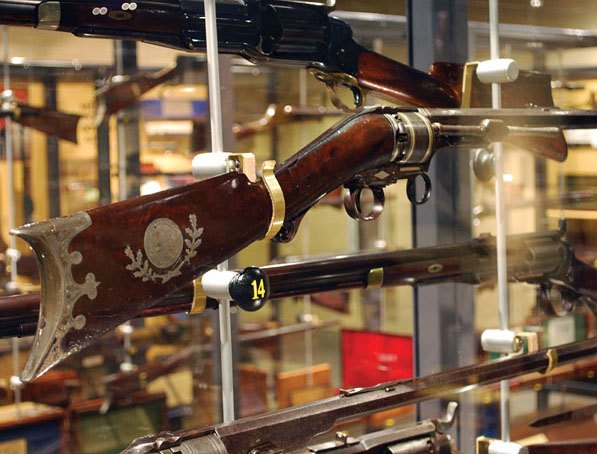 The first-model Colt Paterson .44-caliber rifle that was presented to Valentin Canalizo, president of Mexico in 1844