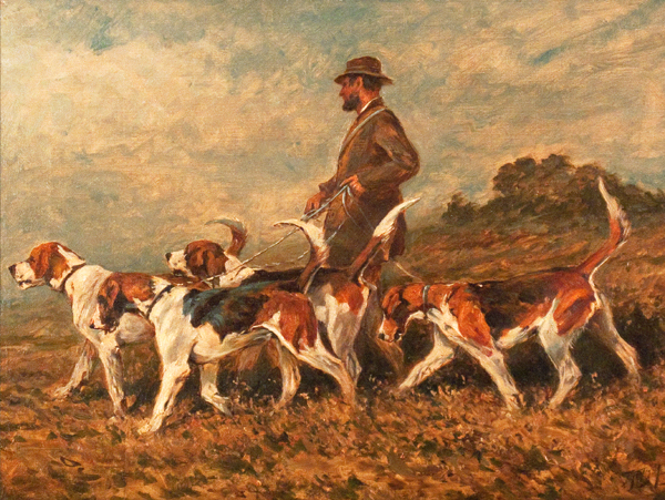 Artist John Emms (1843-1912) dog and animal painter England