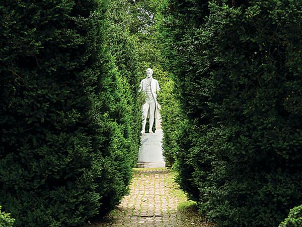 The gardens at Monroe's Ashlawn Highlands