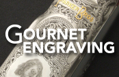 Geoffroy Gournet Master Gun Engraver, Traditional Hand Engraving With Hammer and Chisel, Bulino, and Gold Inlay. Click to visit site.