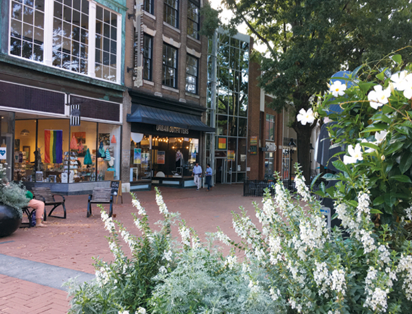 Charlottesville, Virginia, is a sophisticated, metropolitan community in a mountain setting, offering incredible restaurants and is a great place to shop during the holidays.