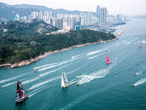 Leg Four started on Jan. 2, 2018, with 5,600 nautical miles from Melbourne to Hong Kong, .. the first to visit the East Asian port.