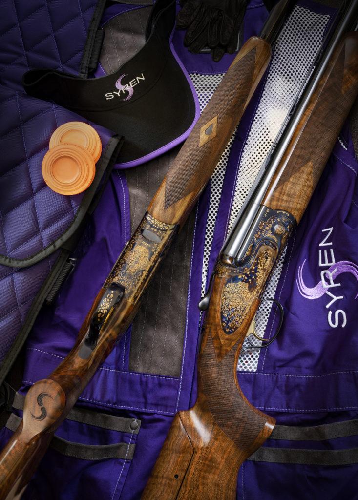 syren julia sporting shotgun