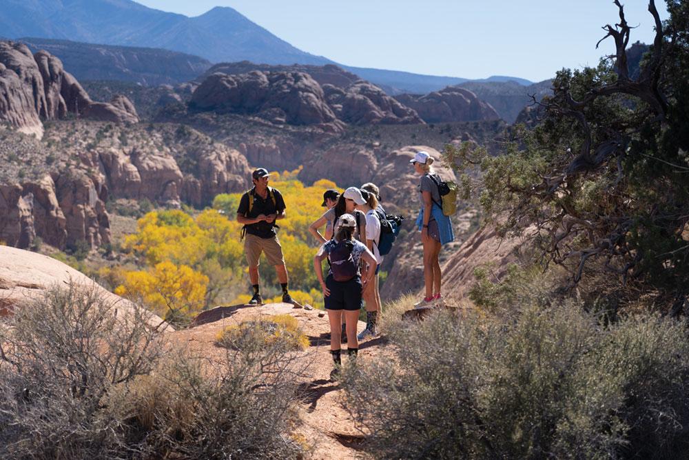 moab desert hiking
